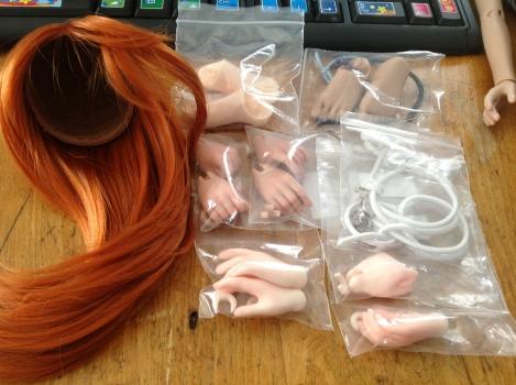 Extra hands, extra feet, extra elastic & wig
