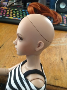 Head without wig