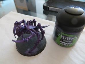 First Flat Wash : Druchii Violet
